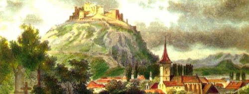 Cetatea într-o stampă de secol XVIII